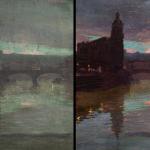 Óleo sobre lienzo. Puente de S. Antón.