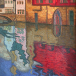 TELLAECHE, José. Óleo sobre lienzo. Canal de Brujas.